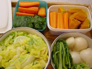 野菜の下茹で