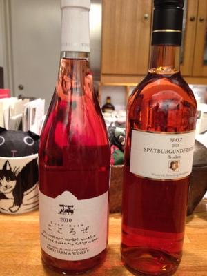 美し~いワイン。Nさんの差し入れでした!
