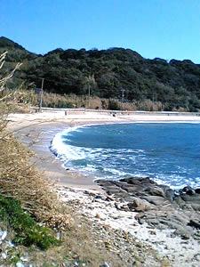 志賀島。すごいカーブです。