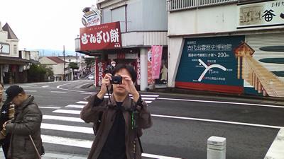 出雲大社を撮るNORIちゃん