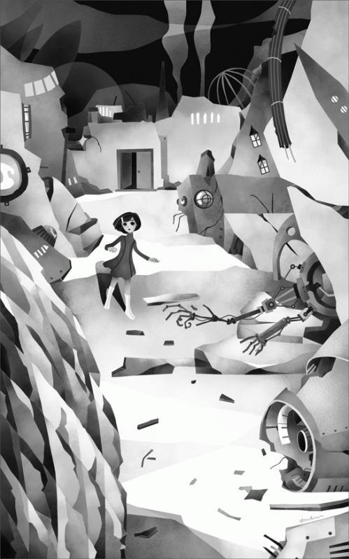 赤い警官と未来の廃墟 扉絵