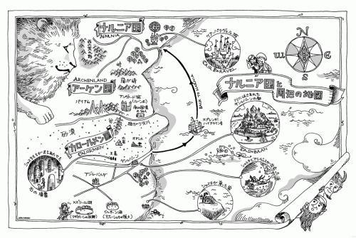 馬と少年 地図