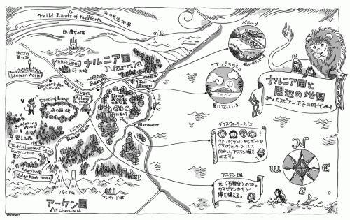 カスピアン王子 地図