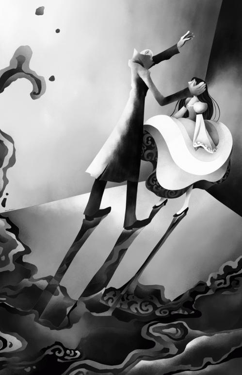 艶やかな骸骨のドレス 扉絵