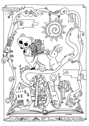 『カラー版鉄腕アトム限定BOX』収録 小松左京「SF日本おとぎばなし」挿絵「カチカチ山」