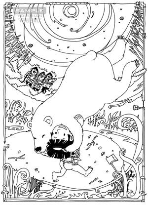 『カラー版鉄腕アトム限定BOX』収録 小松左京「SF日本おとぎばなし」挿絵「キンタロウの秘密」