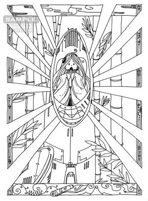 『カラー版鉄腕アトム限定BOX』収録 小松左京「SF日本おとぎばなし」挿絵「救援隊来たる」