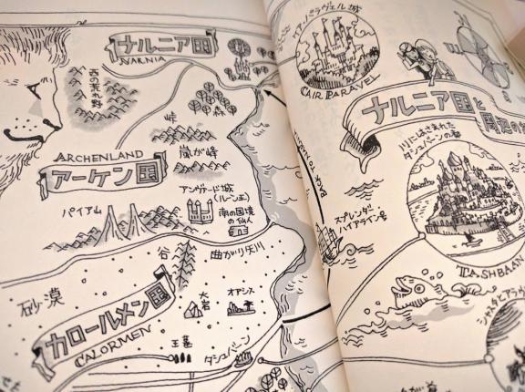 ナルニア国物語 3国(カロールメン、アーケン、ナルニア)をまたぐ地図