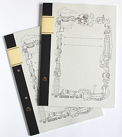 Steampunk notebook A4